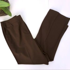 Talbots Chocolate Light Weight Trousers
